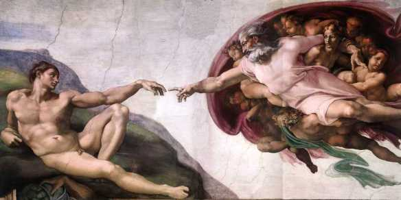 Michelangelo's The Creation of Adam [credit: Wikimedia Commons]